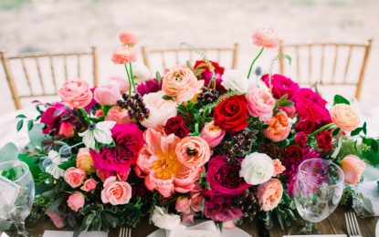 Flowers look more beautiful when arranged in a pattern: