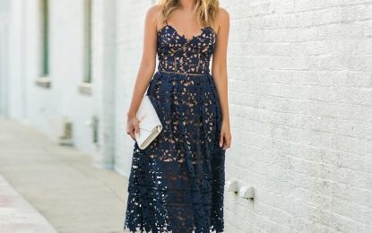 In The Navy – Favorite Navy Lace Dresses