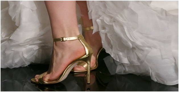 Modern Gold Shoes