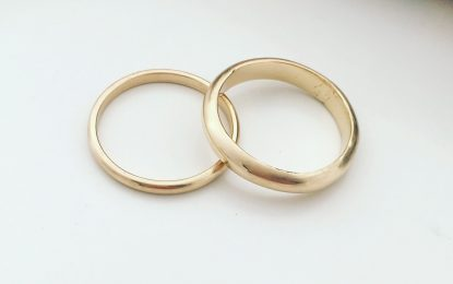 Wedding ring is a symbol of eternal love