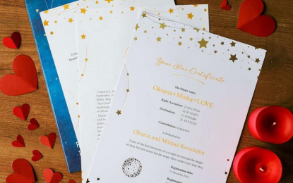 Name a star in the sky – a personalized gift